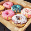 Donuts on a platter